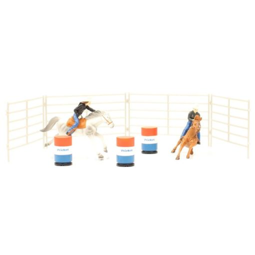 Priefert Farm & Ranch Equipment Set de 2 Caballos y Barriles