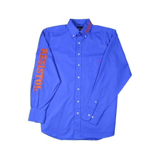 Camisa Resistol Marketing Blue/Orange