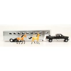 Camioneta Ford F-350 Super Duty Escala 1:32 Con Remolque Cuello de Ganso
