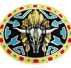 Hebilla Augus CB014 Toro Motivo Amarillo
