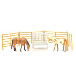 Priefert Farm & Ranch Equipment Corral Con Comedero y Dos Caballos