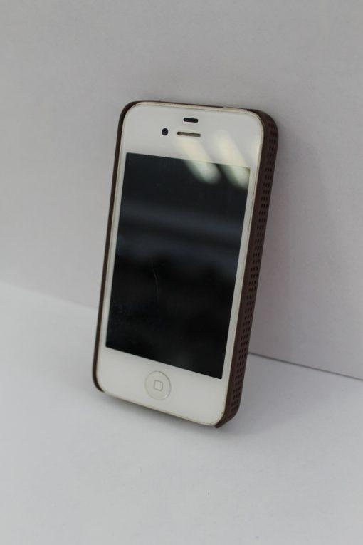 Funda Iphone 4/4s De Piel Cincelada Con Cruz