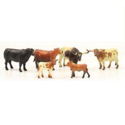 Bigtime Barnyard Set De Toros, Vacas y Becerros