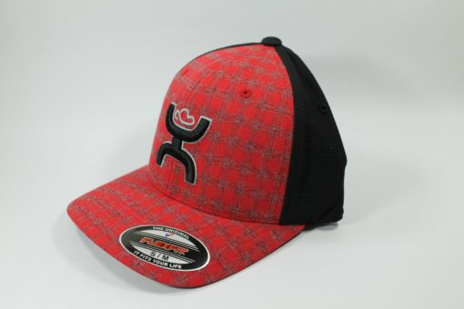 Cachucha HOoey Black and Red Plaid
