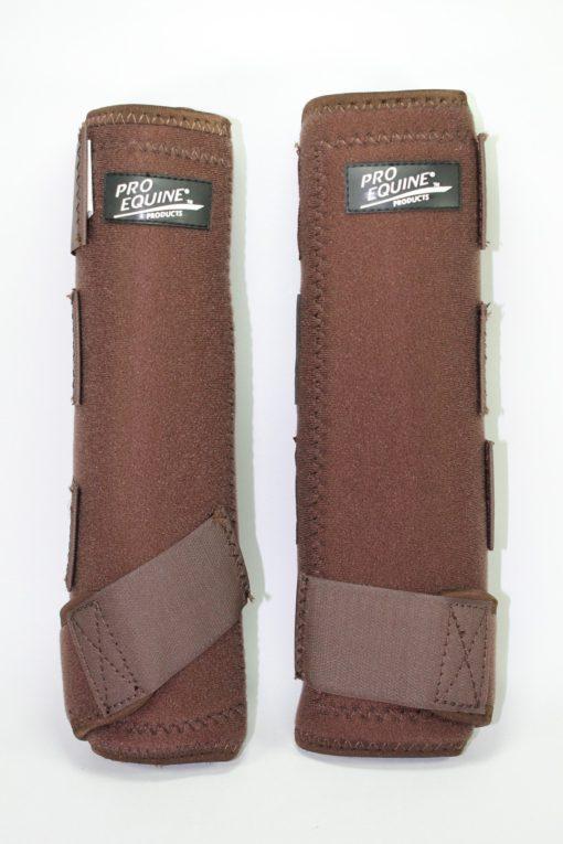 Protectores para patas Pro Equine color Cafe