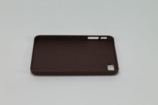 Funda Iphone 4/4s De Piel Cincelada Natural/Black