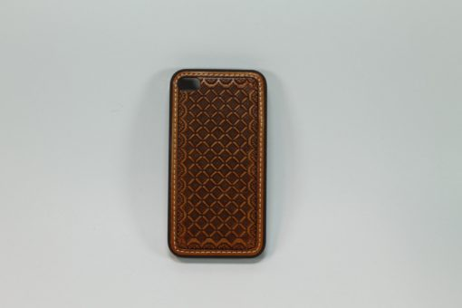 Funda Iphone 4/4s De Piel Cincelada Color Miel