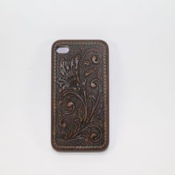 Funda Iphone 4/4s De Piel Cincelada Brown/Brown