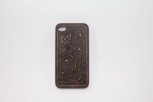 Funda Iphone 4/4s De Piel Cincelada Brown/Brown