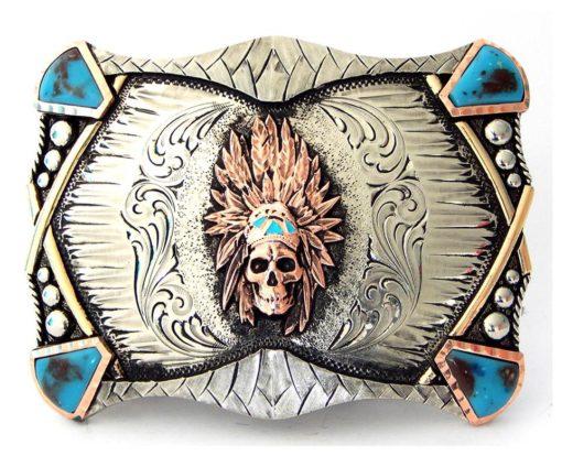 Hebilla Augus MB016 Indian Skull
