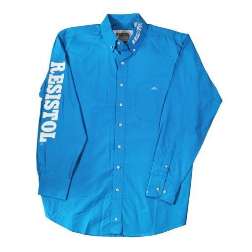 Camisa Resistol Ranch Marketing Turquoise/White