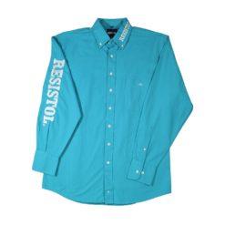 Camisa Resistol Marketing Turquoise/White