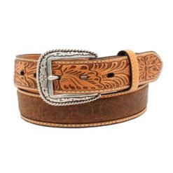 Cinto Ariat Mod A1022008 Color Miel con Cincelado